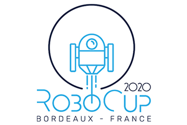 Logo de la RoboCup 2020 prenant place à Bordeaux, France