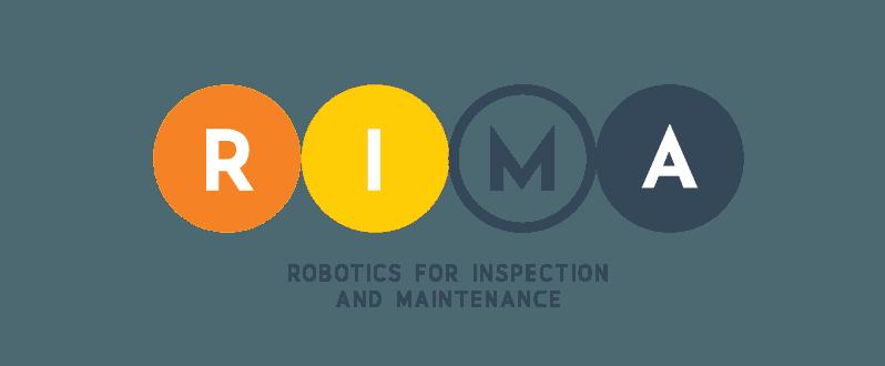 Logo de RIMA, Robotics for Inspection and Maintenance